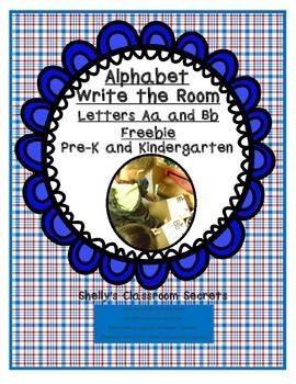 Write the Room Freebie for Pre-K and Kindergarten