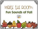Write the Room: Fun Fall Sounds