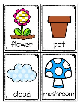 Garden Themed Write the Room Activities | Plant Themed Math & Literacy