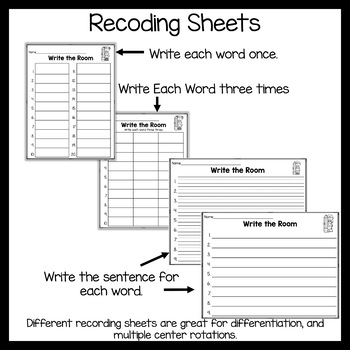 Write the Room Glued Sounds AM and AN Level 1 Unit 5