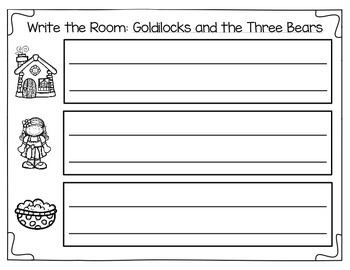 Write the Room: Goldilocks and the Three Bears