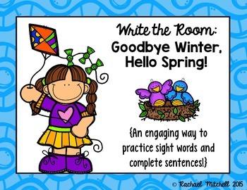 Write the Room: Goodbye Winter, Hello Spring!