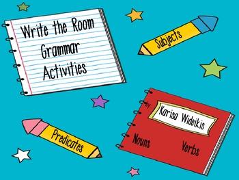 Write the Room Grammar Activities