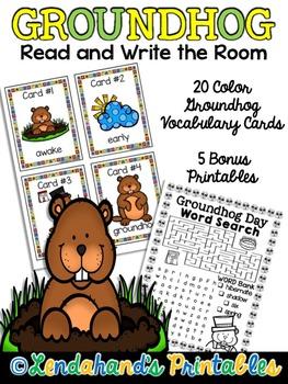 Groundhog Day Write the Room Resource