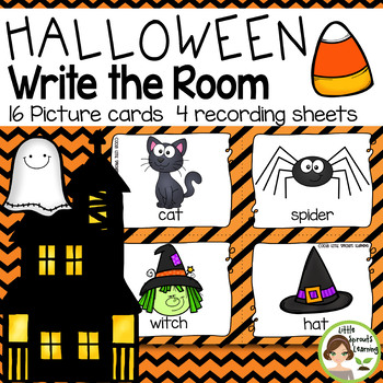 HALLOWEEN Write the Room (plus sound cards)