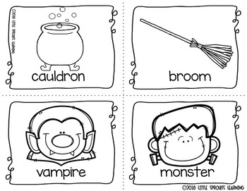 Halloween Write the Room 16 cards four versions, four recording sheets