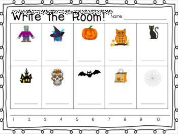 Count Around the Room: Halloween