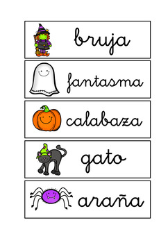 Write the Room Halloween in Spanish