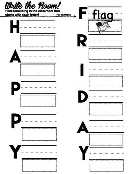 Write the Room: Happy Friday