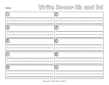 Write the Room - Hh and Dd