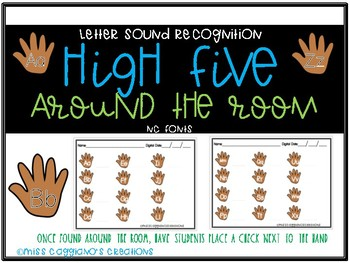 Write the Room - High Five Style for Letter and Sound Recognition