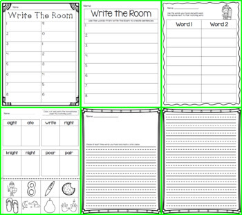 Write the Room - Homophones