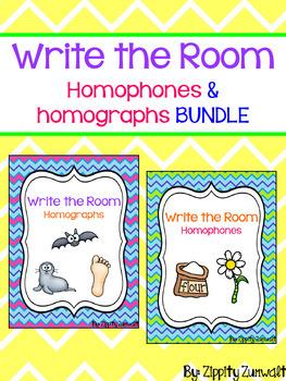 Write the Room - Homophones & Homographs BUNDLE