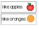 "Write the Room ~ "" I Like Fruit"" Sentences"