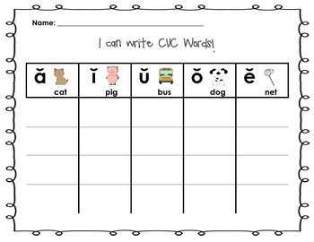 "Write the Room: ""I can Write CVC Words!"""