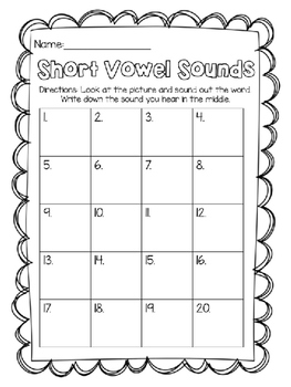 Write the Room: Identifying Short Vowel Sounds