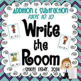 Write the Room Independent Math Centers: Addition and Subtraction Facts to 10