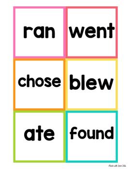 Write-the-Room Irregular Verbs