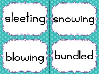 Write the Room : January Edition Nouns, Verbs, Adjectives