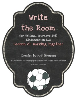 Write the Room: Journeys Kindergarten ELA Series, Lesson 2