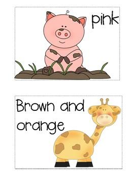 Write the Room:  Journeys Kindergarten ELA Series, Lesson 24, Animal Colors