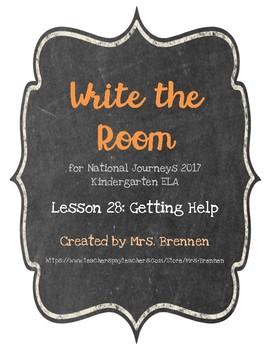 Write the Room:  Journeys Kindergarten ELA Series, Lesson 28, Getting Help