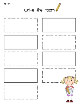 Write the Room - Kindergarten