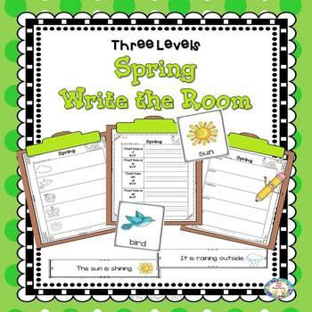 Write the Room Spring  Kindergarten - 2  (Differentiated)