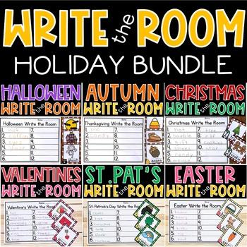 Write the Room Kindergarten Holidays BUNDLE