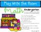 Write the Room Kindergarten May