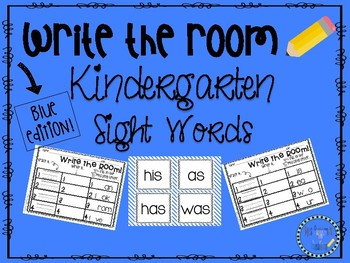 Write the Room Kindergarten Sight Words