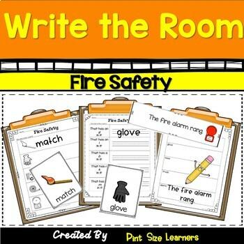Write the Room Kindergarten Through Grade 2 Fire Safety Differentiated