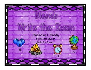 Beginning L Blends Write the Room!