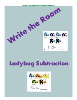 Write the Room: Ladybug Subtraction