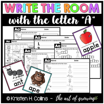 Write the Room Literacy Center - Letter A