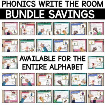 Alphabet Write the Room - Letter A