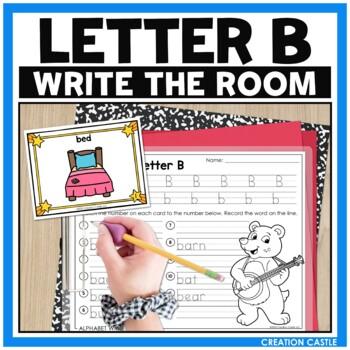 Alphabet Write the Room - Letter B