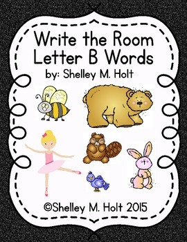 Write the Room - Letter B Words