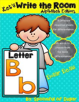 Write the Room: Letter Bb (Dollar Deal!)