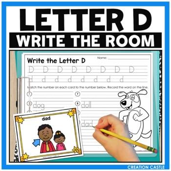 Alphabet Write the Room - Letter D