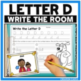 Alphabet Write the Room - Letter D