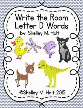 Write the Room - Letter D Words