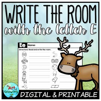 Write the Room - Letter E