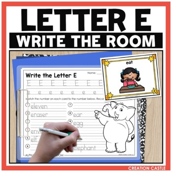 Alphabet Write the Room - Letter E