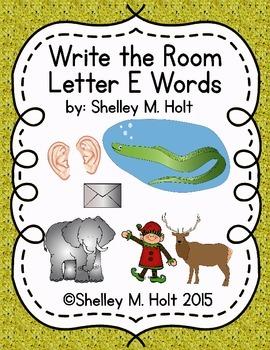 Write the Room - Letter E Words
