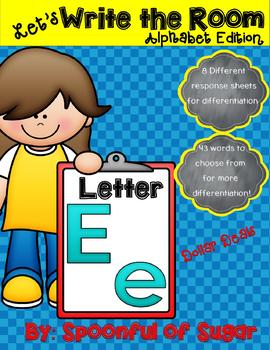 Write the Room: Letter Ee (Dollar Deal!)