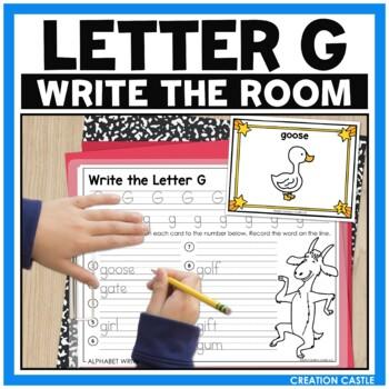 Alphabet Write the Room - Letter G