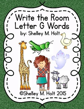 Write the Room - Letter G Words