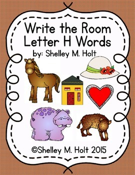 Write the Room - Letter H Words