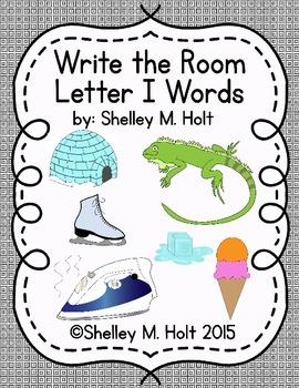 Write the Room - Letter I Words
